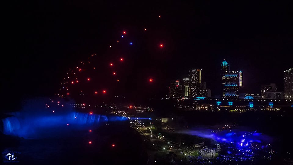 We offer 256 colors in our drone light show displays