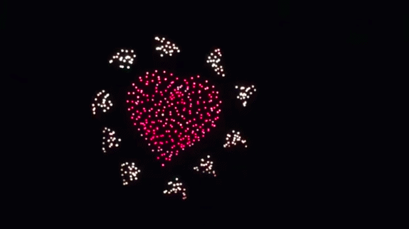 drone light show shapes